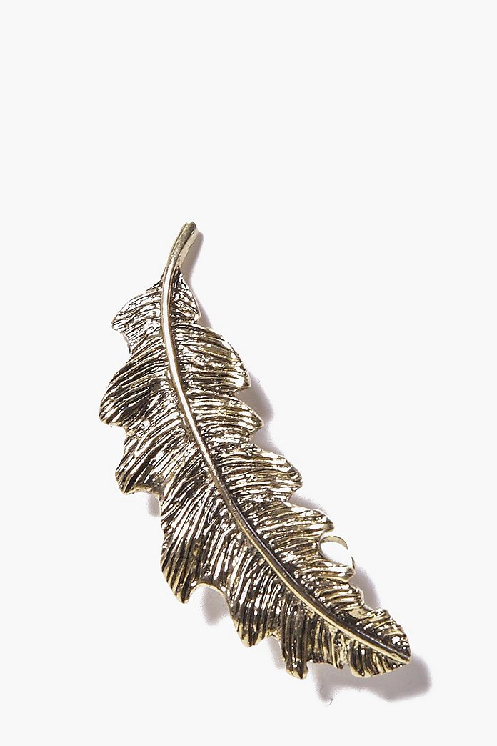 Isabella Feather Large Ear Cuff