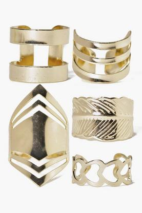 Eva Mixed Chevron Adjustable Ring Pack