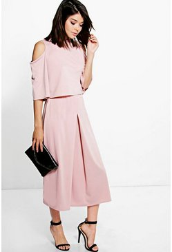 Faith Crepe Layered Culottes