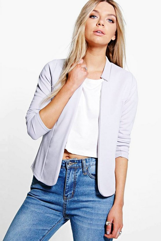 Sophia Ponte Notch Neck Blazer