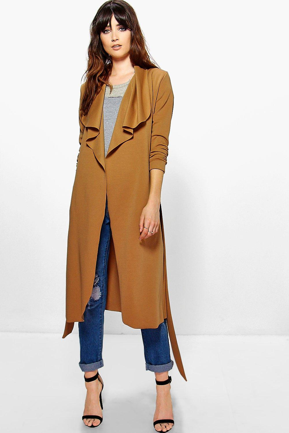Katie Belted Shawl Collar Duster