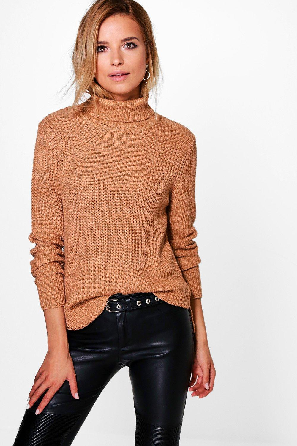 Ella Roll Neck Rib Jumper