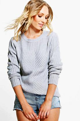 Caroline Mixed Rib Knit Jumper