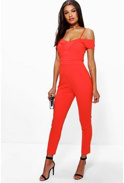 Amy Cold Shoulder Jumpsuit