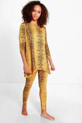 Louise Pom Pom Snake Knitted Loungewear Set