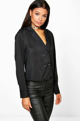 Claire Double Breasted Long Sleeve Shirt