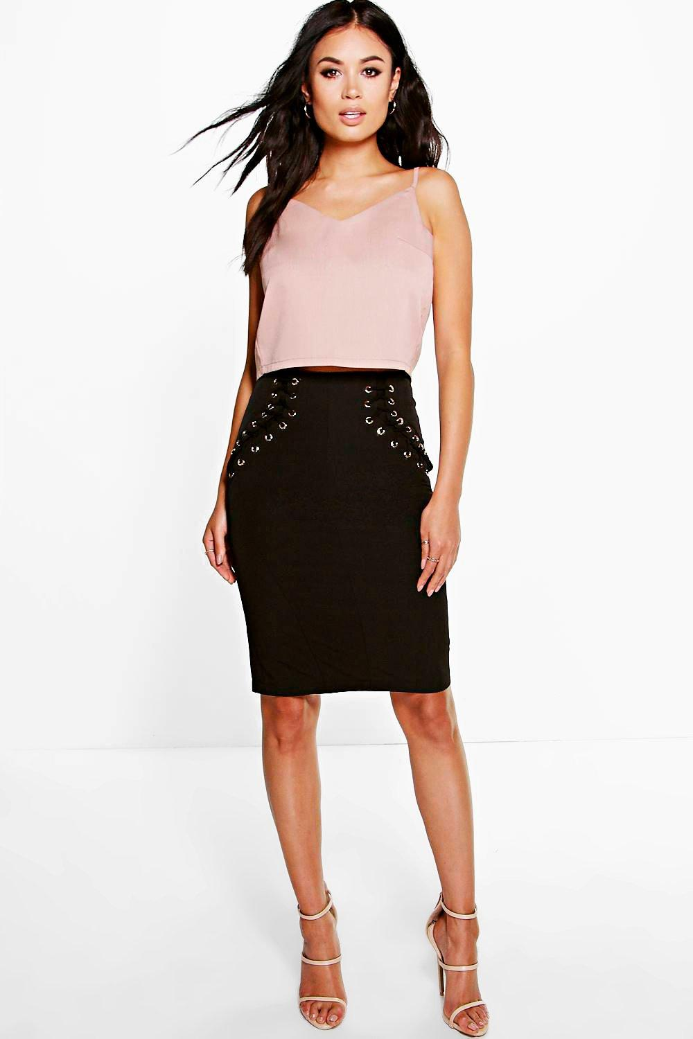 Boutique Ella Lace Up Skirt