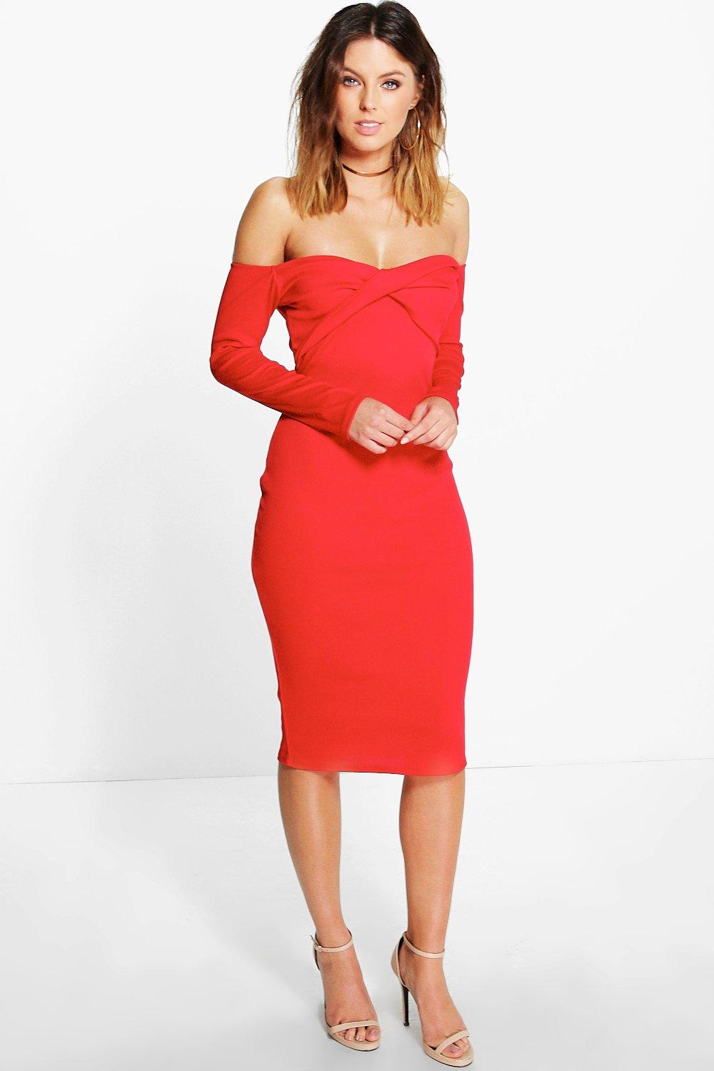 Shaney Off Shoulder Bodycon Dress