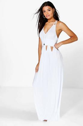 Mila Cut Out Waist Strappy Maxi Dress