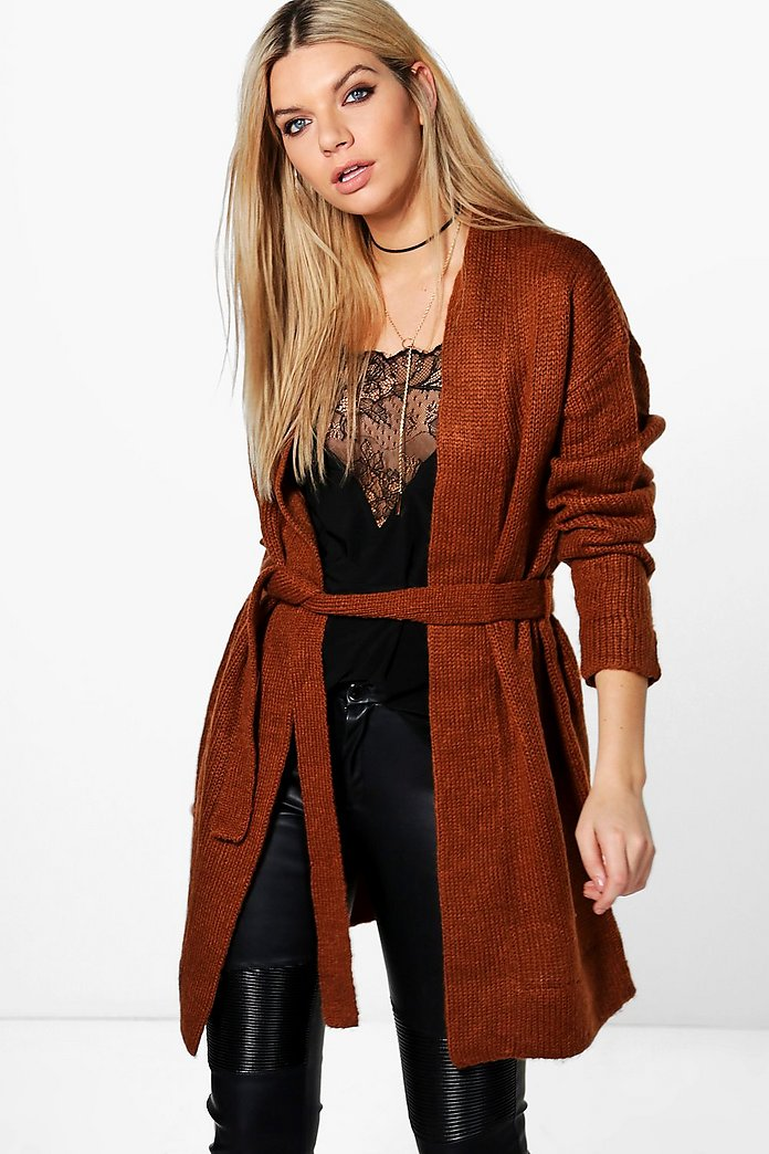 Laura Edge To Edge Belted Cardigan
