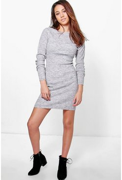 Katie Marl Rib Knit Midi Dress