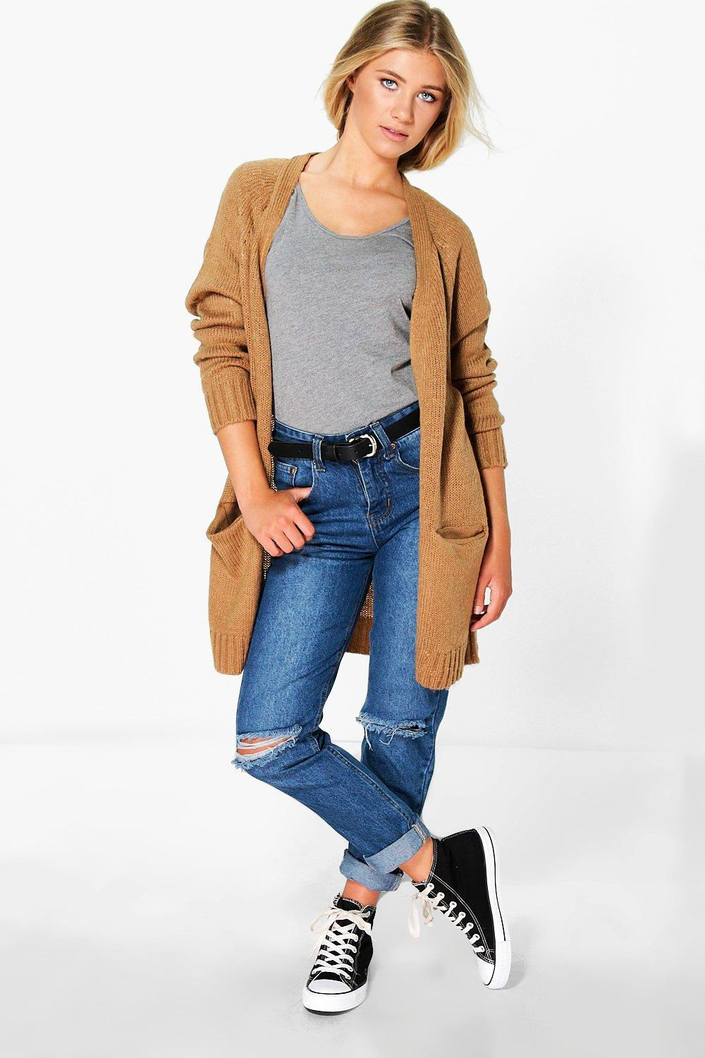 Soft Knit Cardigan  camel