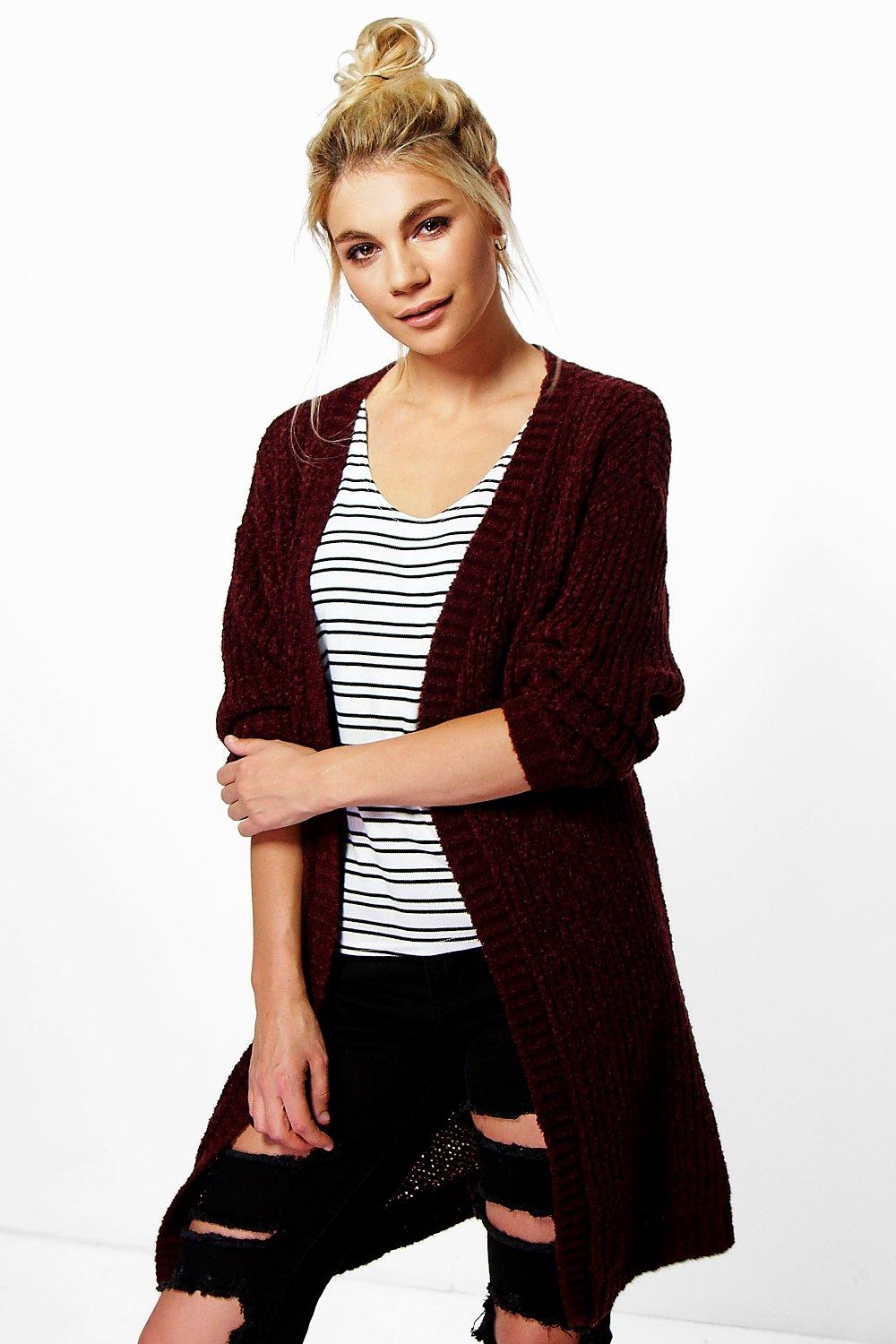 Martha Boucle Knit Edge To Edge Cardigan