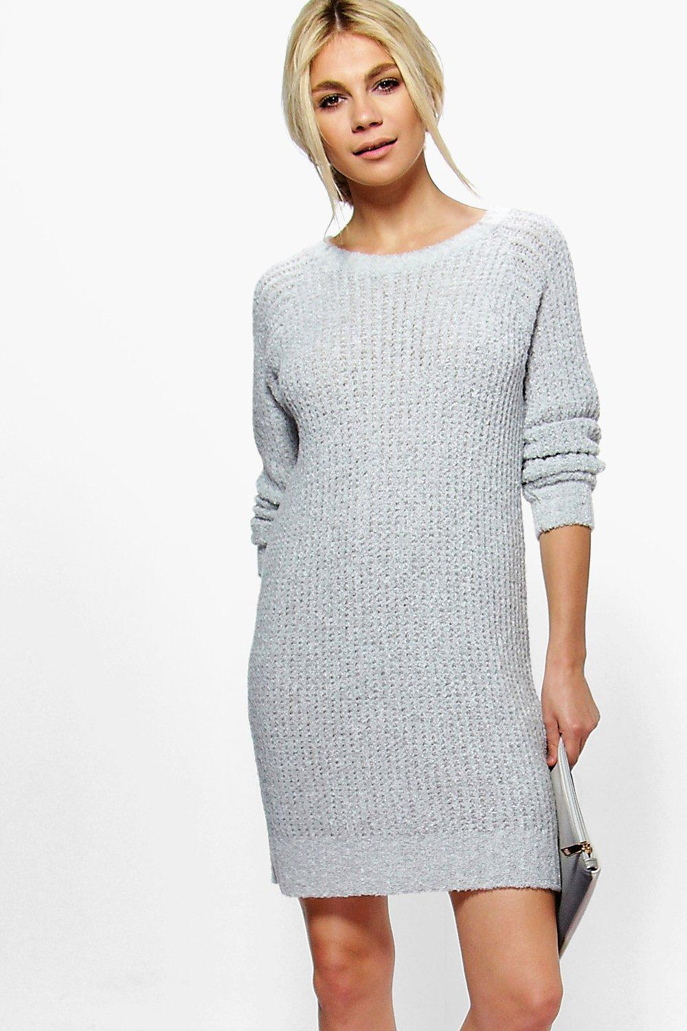 Maria Boucle Knit Mini Dress