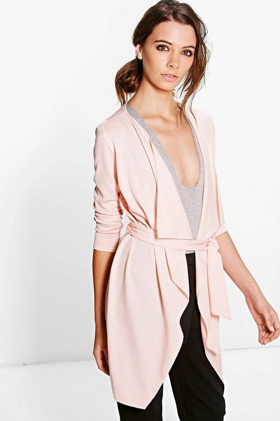 Lena Waterfall Belted Duster