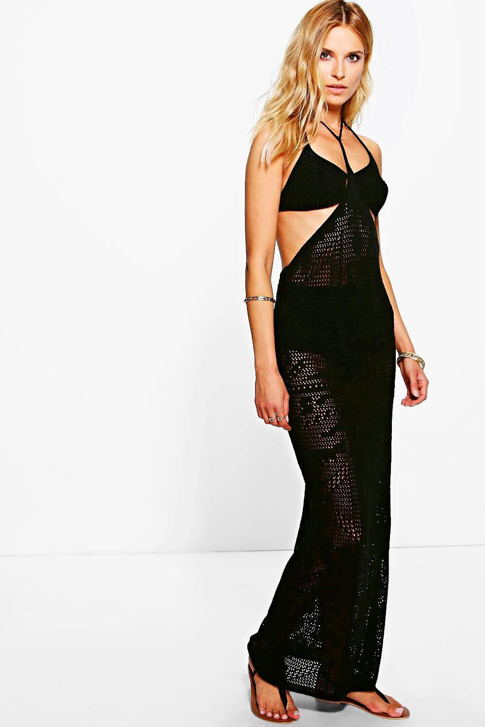 Lois Halterneck Crochet Maxi Dress