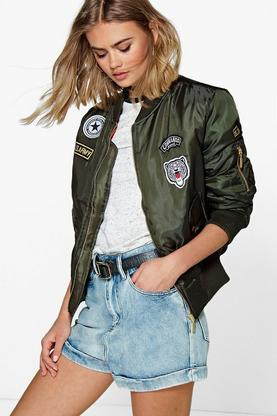Saskia MA1 Badge Bomber