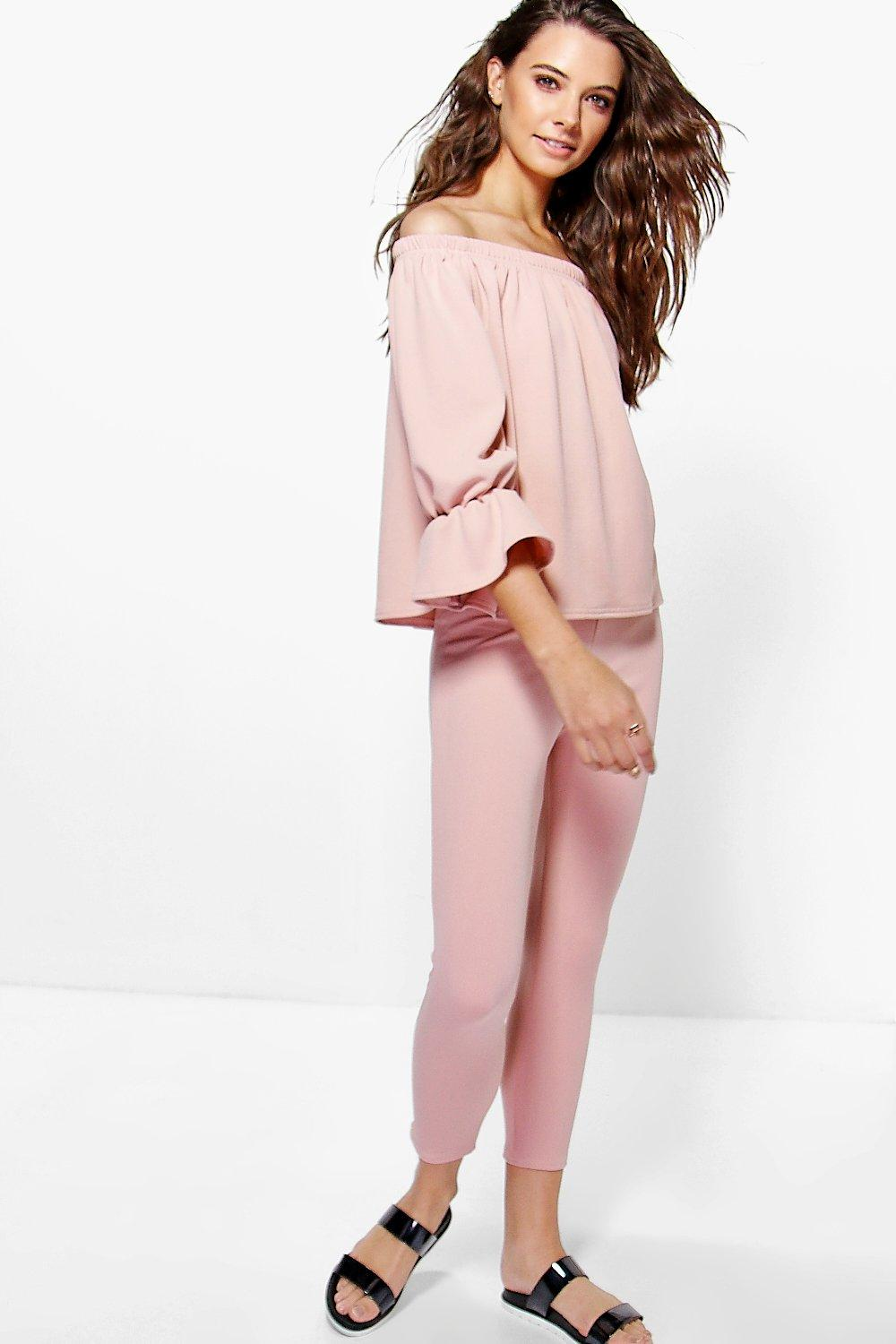 Amber Ruffle Sleeve Loungewear Co-Ord