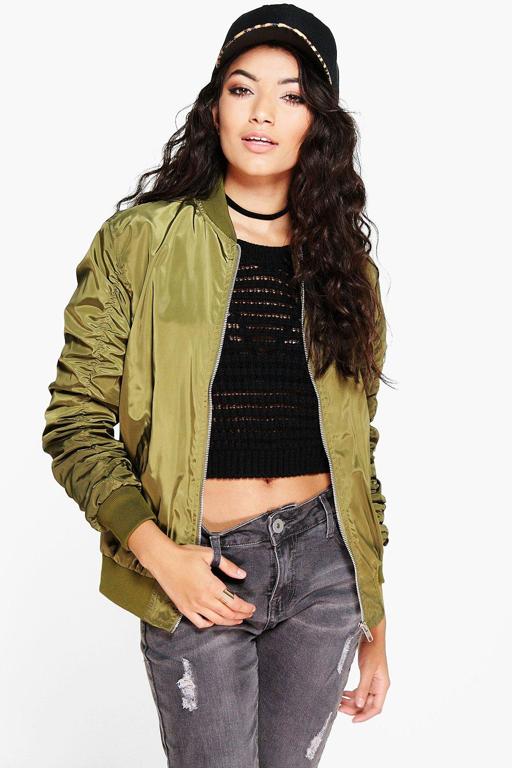 Faith Rouched Sleeve MA1 Bomber