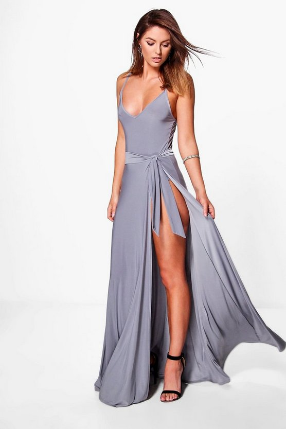 Eve Slinky Body And Tie Maxi Skirt Co-Ord