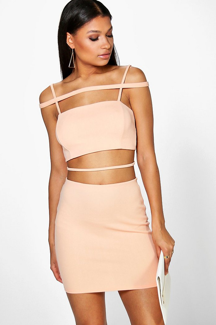 Jess Strappy Crop And Mini Skirt Co-Ord