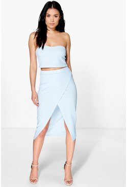 Roxy Bandeau & Wrap Skirt Co-Ord