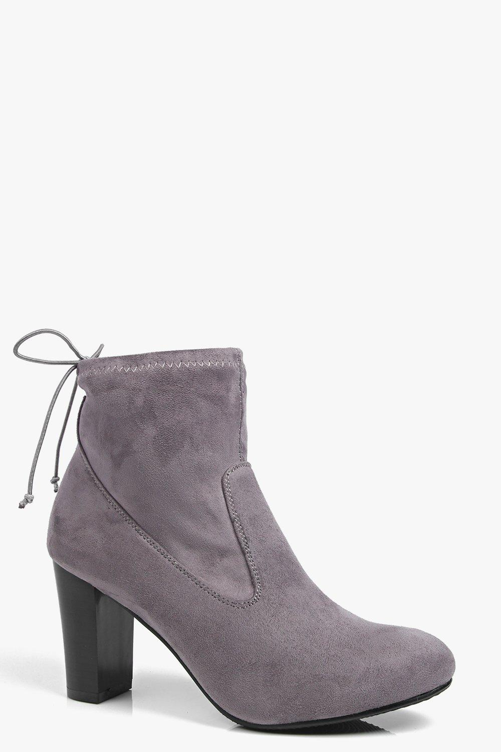 Block Heel Ankle Boot grey