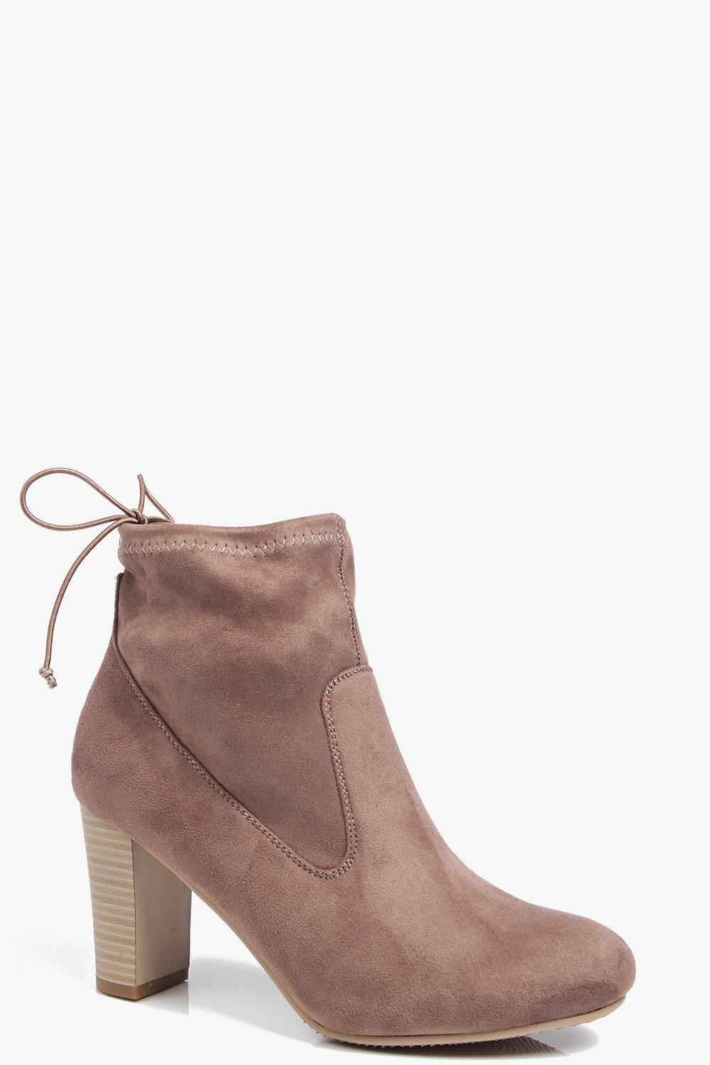 Victoria Block Heel Ankle Boot