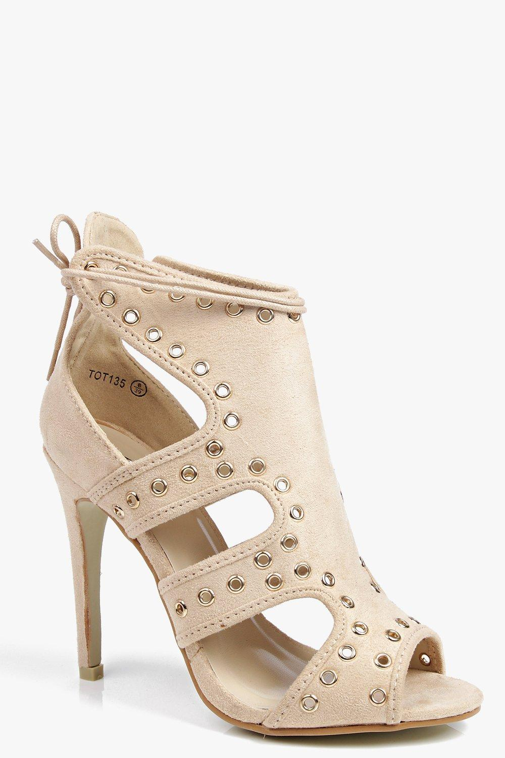 Katie Eyelet Detail Caged Shoe Boot