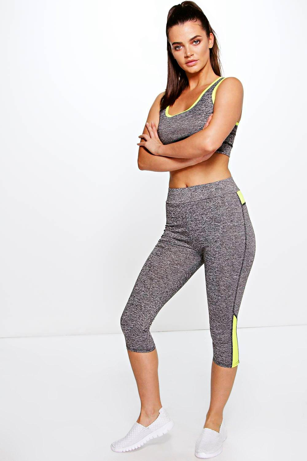 Holly Crop Top And Capri Running Legging