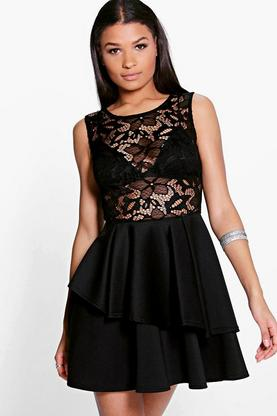 Taylor Lace Double Layer Dress