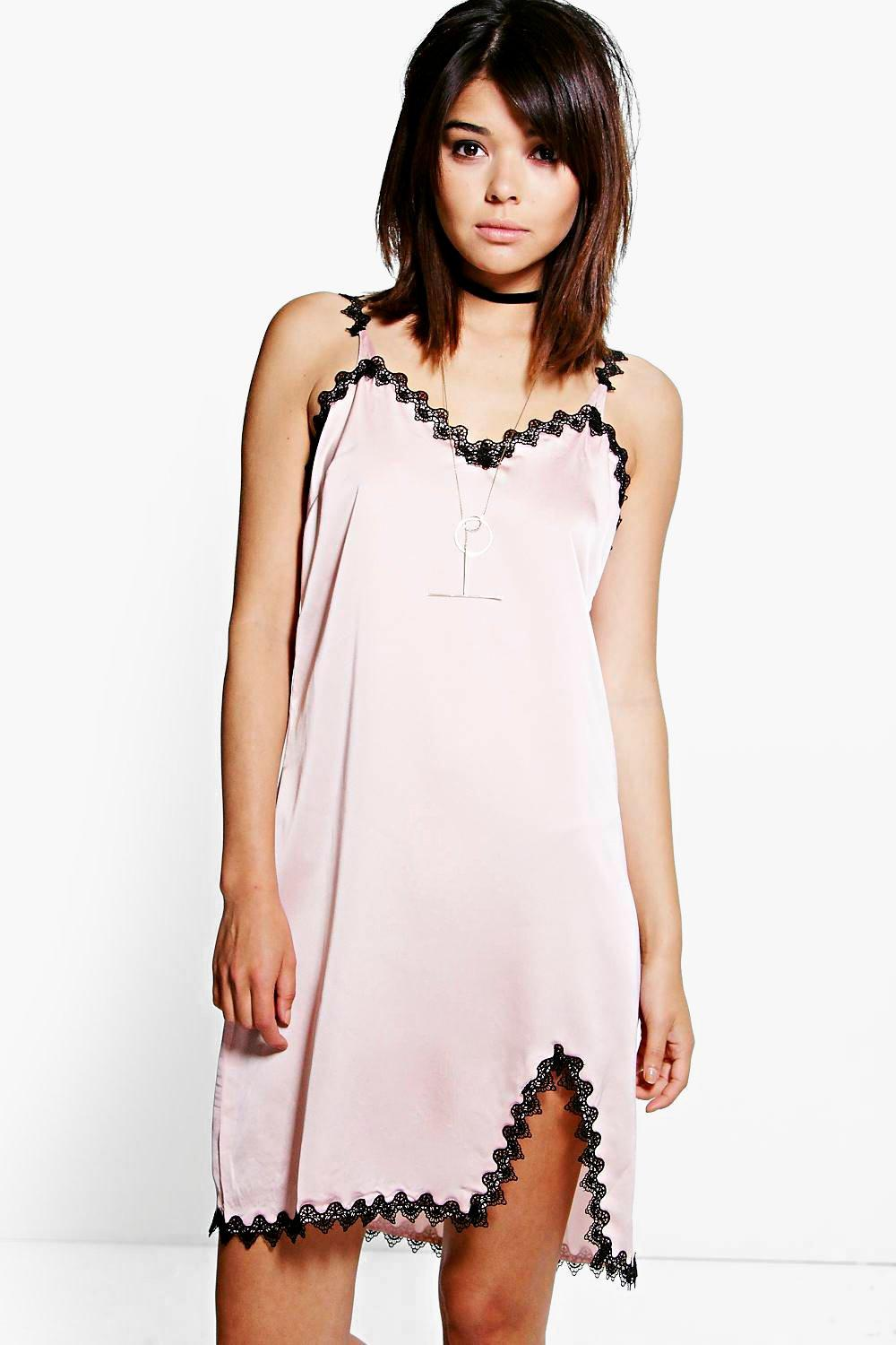 Niamh Lace Trim Slip Dress