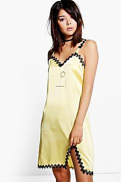 Niamh Lace Trim Slip Dress