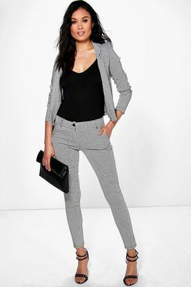 Anya Geo Jacquard Stretch Trouser