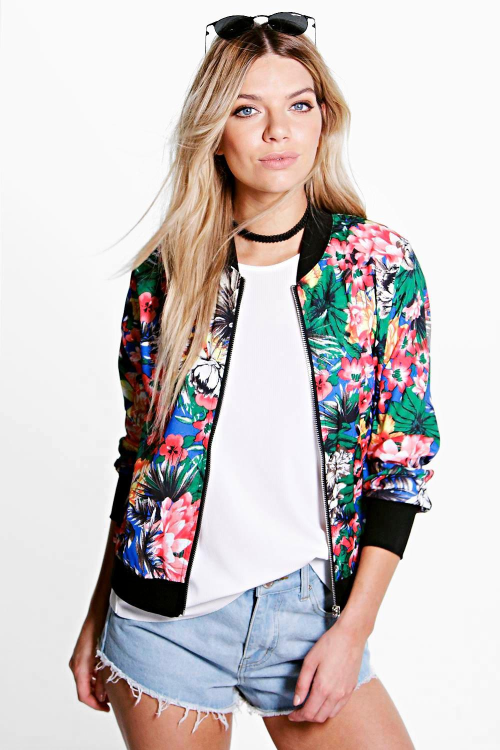 Anna Tropical Bomber Jacket