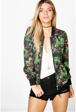 Sarah Tropical Bomber Jacket