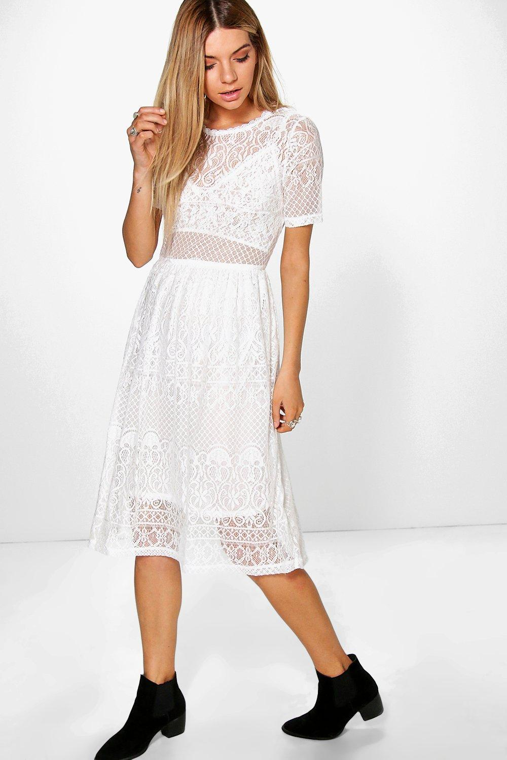 Lenka Lace Midi Dress