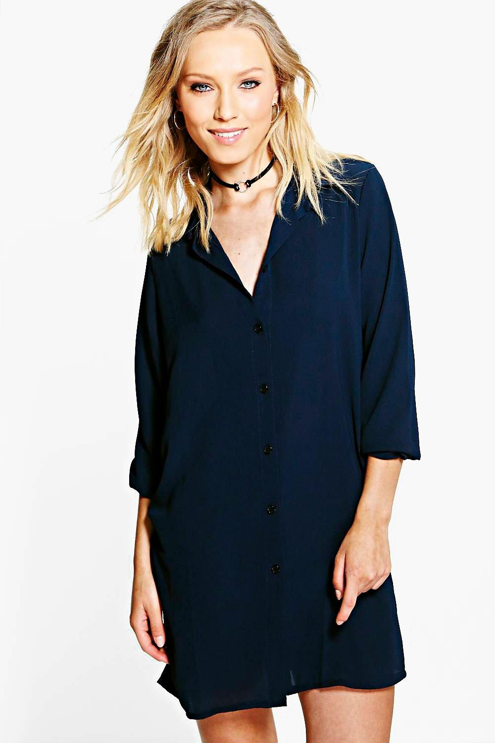 Lanie Woven Shirt Dress
