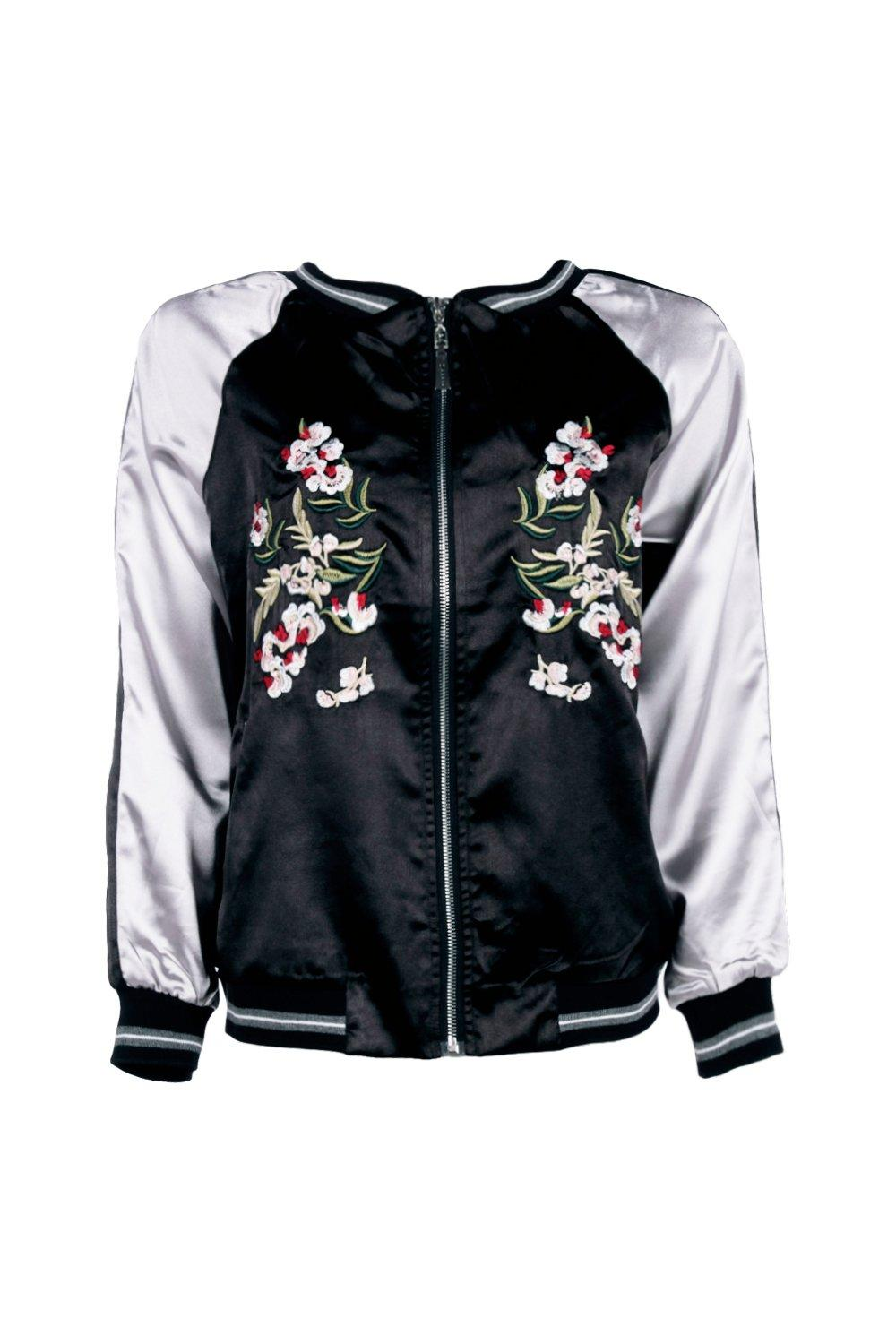 Boohoo womens boutique eloise embroidered bomber jacket in