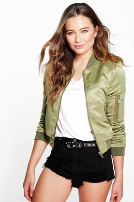 Boutique Isla Satin Bomber
