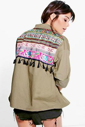 Mia Embroidered Utility Jacket