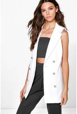 Olivia Sleeveless Double Breasted Blazer