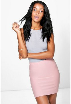 Adalina Soft Crepe Basic Mini Skirt