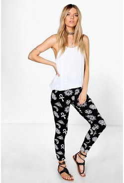 Willow Symbolic Print Leggings