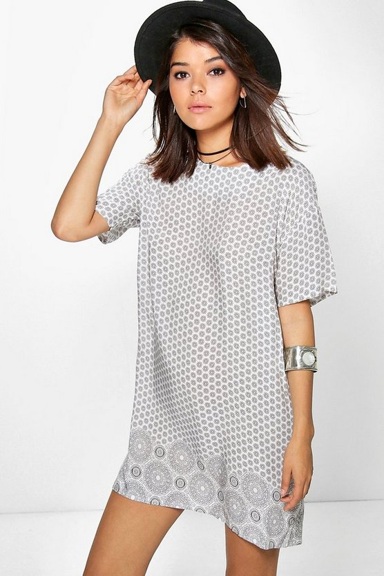 Sonia Cap Sleeve Shift Dress