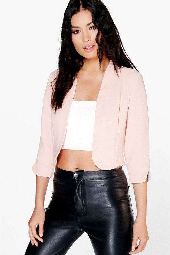Anna Crop Woven Edge To Edge Jacket