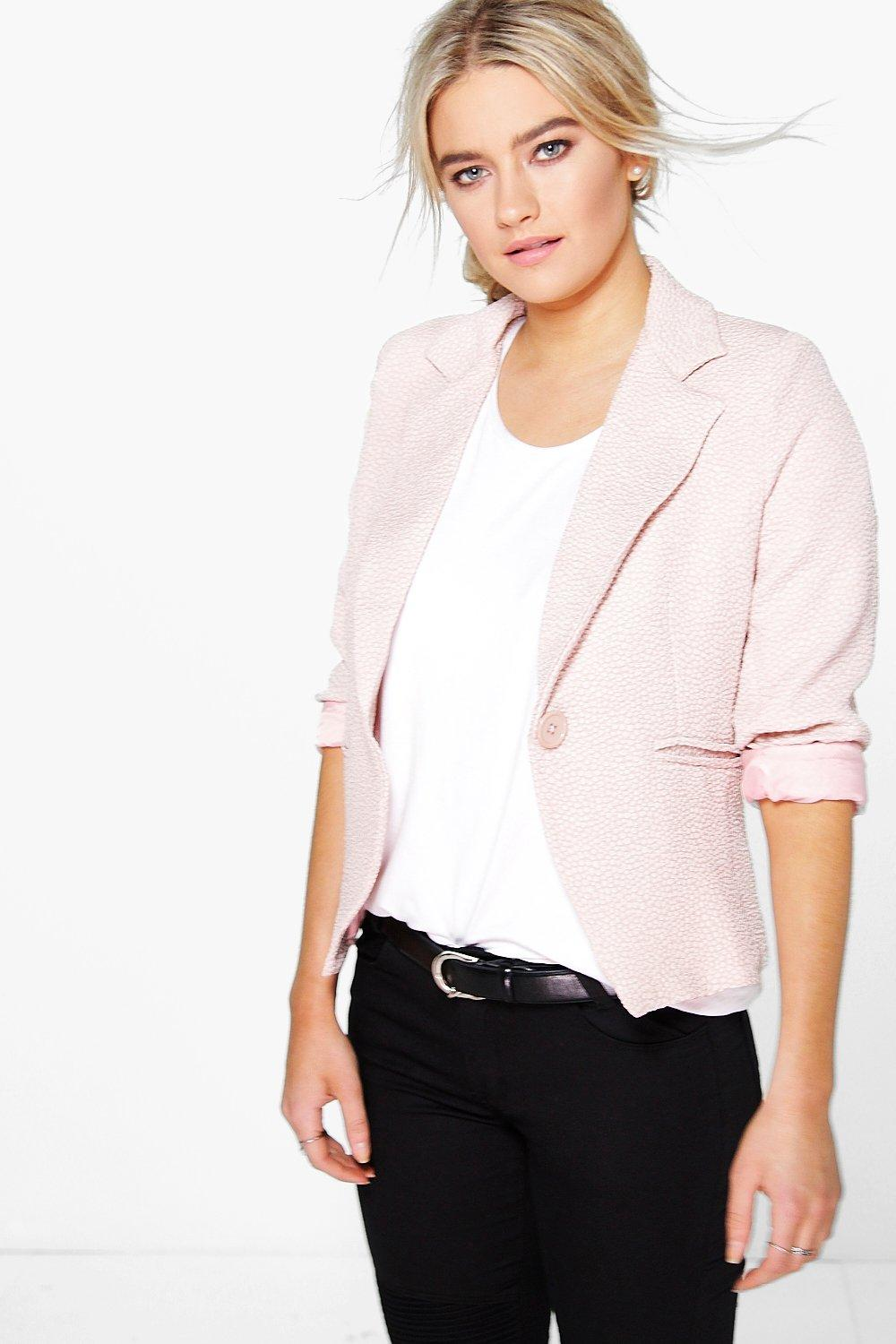 Katie Textured Crop Blazer