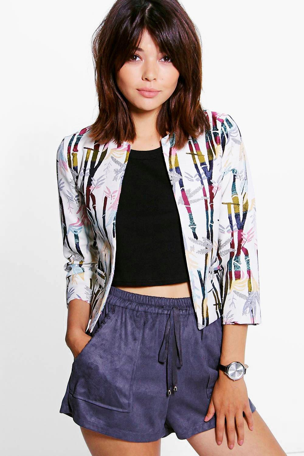 Skye Metallic Jacquard Trophy Jacket
