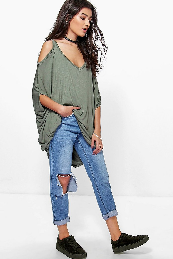 Lexi Cold Shoulder Tunic Top