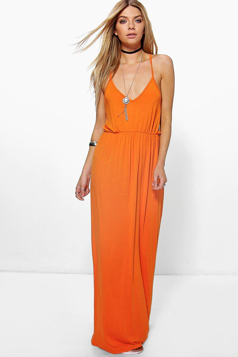 Lauren Ring Detail Strappy Maxi Dress